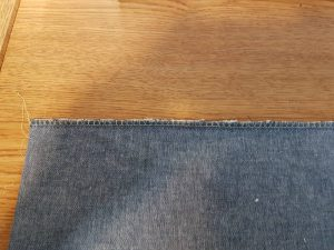 Denim With Overcast Stitch