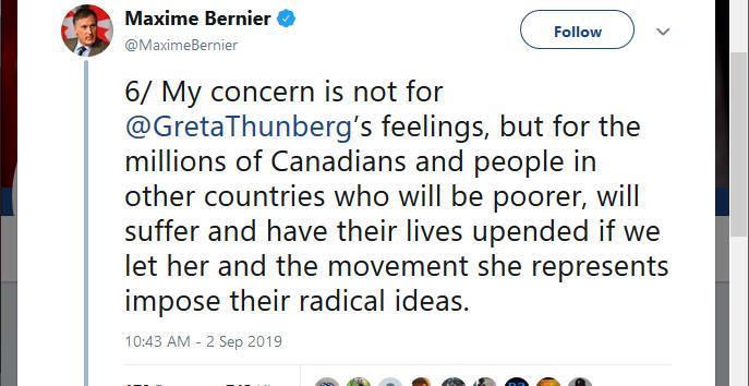 Maxime Bernier Twitter Post